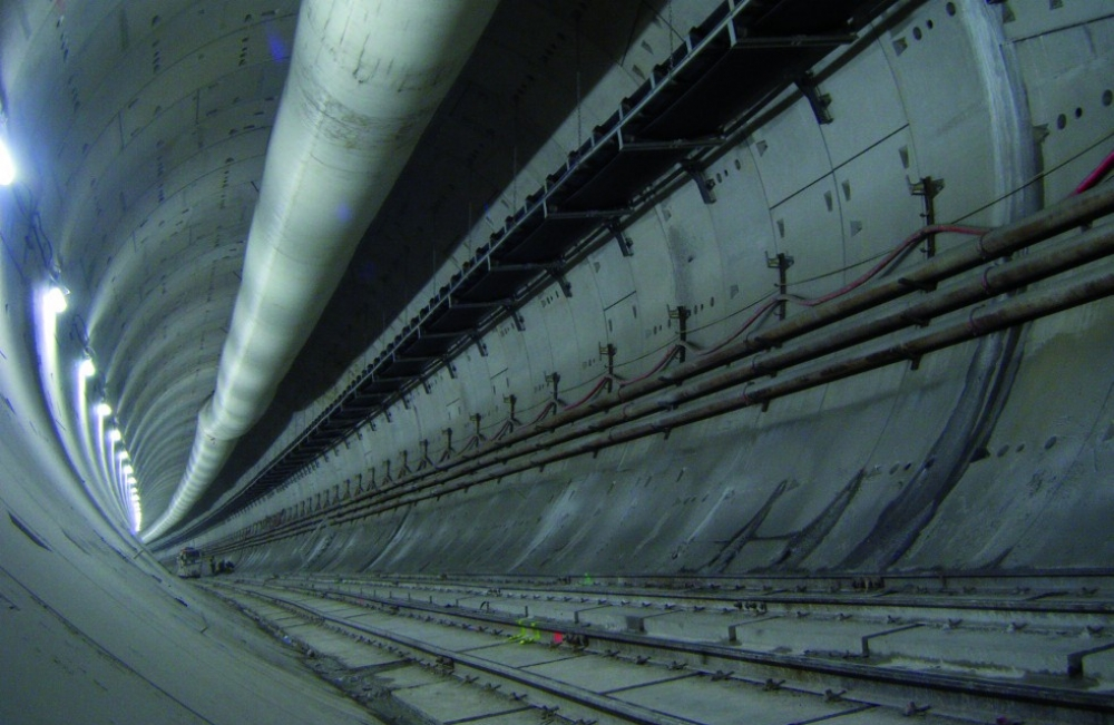 Image High speed railways tunnel in Barcelona