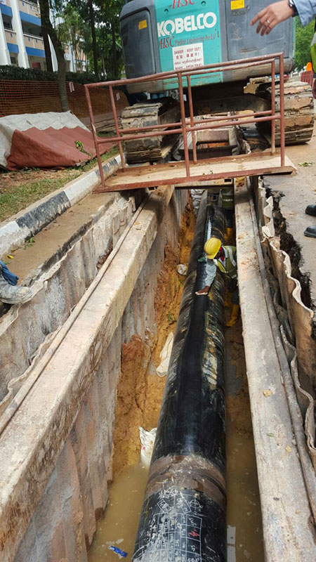Pipe preparing for FO cable installation