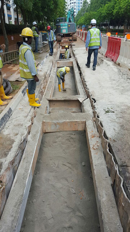 Trench backfilling