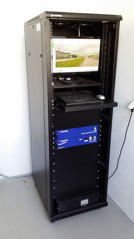 Cabinet station with DiTemp DTS and Alarm Relay Module